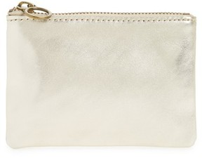 Madewell The Leather Pouch Zip Wallet - Metallic