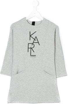 Karl Lagerfeld branded jersey dress