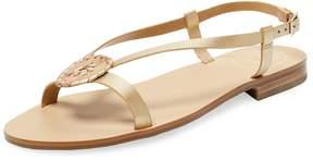Jack Rogers Women's Mollie Metallic Leather Sandal