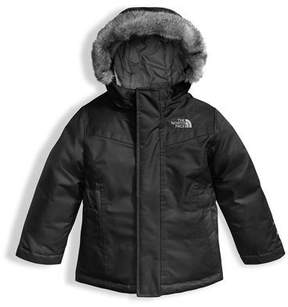 The North Face Greenland Down Parka w/ Faux-Fur Trim, Black, Size 2-4T