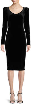 Bisou Bisou Long Sleeve Velvet Dress