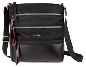Lodis Wanda Rfid Nylon & Leather Crossbody Bag - Black
