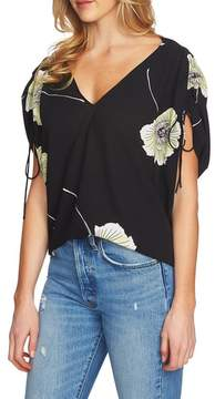 1 STATE 1.STATE Cinch Sleeve V-Neck Blouse
