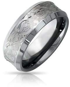 Dragon Optical Bling Jewelry Celtic Unisex Tungsten Wedding Ring 8mm.
