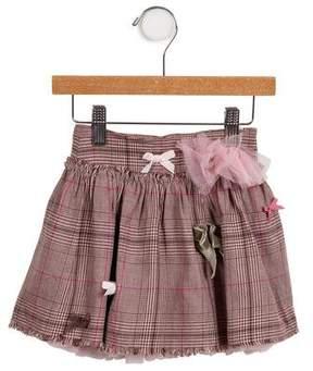 Lili Gaufrette Girls' Bow-Accented Skirt