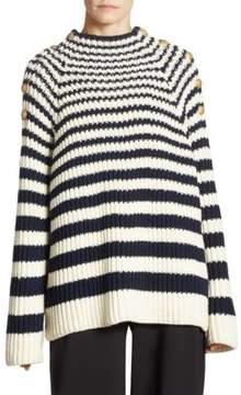 Alberta Ferretti Striped Wool Sweater