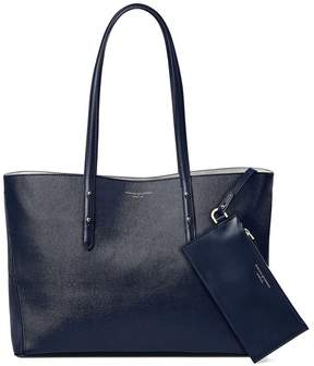 Aspinal of London Regent Tote In Navy Saffiano