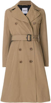 Aspesi long sleeved belted trench