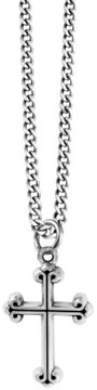 King Baby Studio Men's Sterling Silver Cross Pendant Necklace