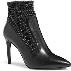 Karen Millen Women's Textured Leather Ankle Booties