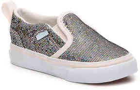 Vans Girls Asher Infant & Toddler Glitter Slip-On Sneaker