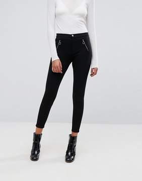 Esprit Zip Front Peg Leg PANTS