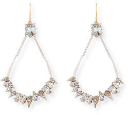 Alexis Bittar Crystal-Encrusted Mosaic Futuristic Earrings