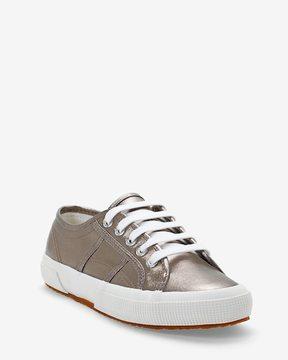 White House Black Market 2750 Superga Silver Sneakers