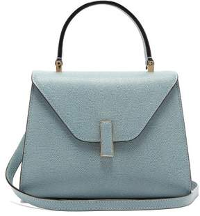 Valextra Iside Mini Grained Leather Bag - Womens - Light Blue