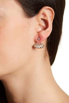 BaubleBar Georgie Bezel Set Crystal Ear Jackets
