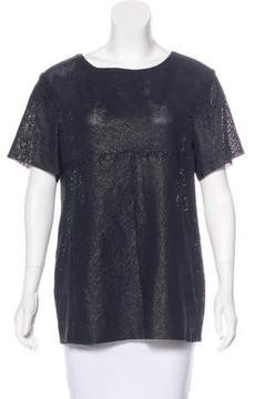 Drome Leather Short Sleeve Top