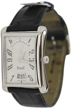 Piaget Emperador P10108 Retrograde 18K White Gold Watch