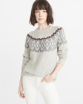 Abercrombie & Fitch Fair Isle Crew Sweater
