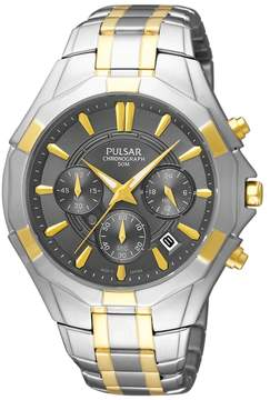 Pulsar Men's Two Tone Chronograph Watch - PT3854
