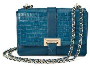 Aspinal of London Small Lottie Bag In Deep Shine Topaz Small Croc