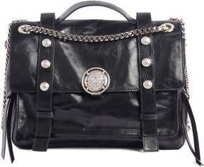 Balmain Studded Calfskin Leather Shoulder Bag