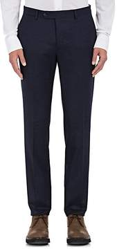Luciano Barbera Men's Wool Flannel Flat-Front Trousers