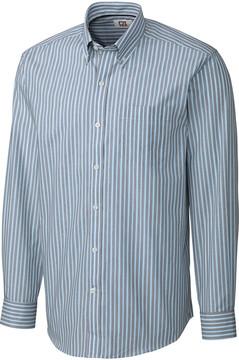 Cutter & Buck Blue Pinstripe Easy-Care Button-Up - Men