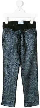 Lanvin Enfant glitter straight trousers