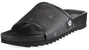 MCM Men's Visetos Slide Sandal