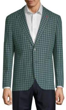 Tailorbyrd Alonzo Checkered Linen Cotton Jacket