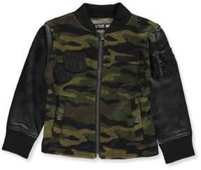 Steve Madden Little Girls' Knit Jacket (Sizes 4 - 6X) - olive camo, 4