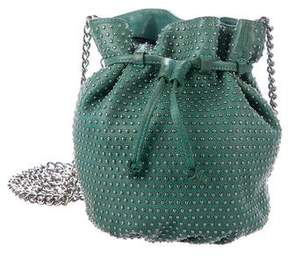 Rebecca Minkoff Studded Leather Bucket Bag - GREEN - STYLE
