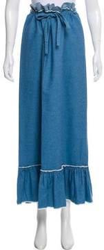 Calypso Chambray Maxi Skirt