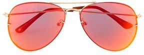 Topman Pink Yellow Aviator Sunglasses