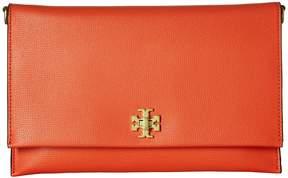 Tory Burch Kira Clutch Handbags - POPPY RED - STYLE