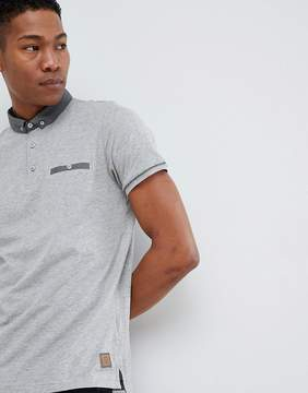 Brave Soul Contrast Pocket and Collar Polo