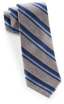 The Tie Bar Social Stripe Silk and Linen Tie