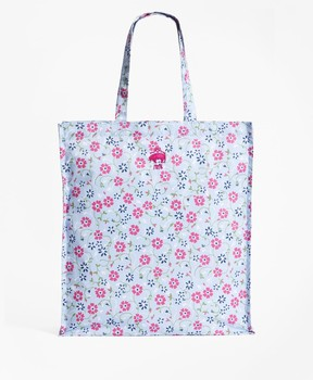 Brooks Brothers Floral-Print Nylon Tote Bag
