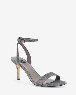 White House Black Market Gray Strappy Heels