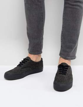 Asos Lace Up Sneakers In Black Warm Handle