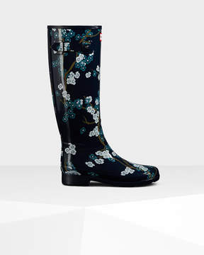 Hunter Women's Refined Blossom Print Tall Rain Boots