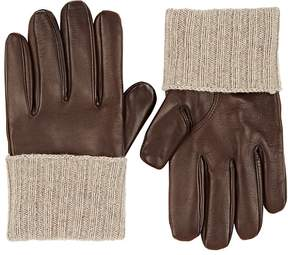 Barneys New York MEN'S LAMBSWOOL-LINED LEATHER GLOVES