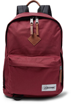 Eastpak Out Of Office Leather-Trimmed Canvas Backpack