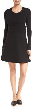Neiman Marcus N/Nicholas Sleeveless Pinafore Dress, Black
