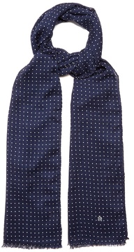 Dunhill Polka-dot wool-blend scarf