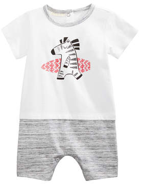 First Impressions Graphic-Print Cotton Romper, Baby Boys, Created for Macy's