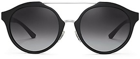 Tory Burch Double-Bridge Round Sunglasses