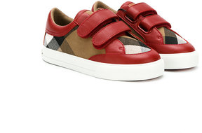 Burberry Kids checked sneakers