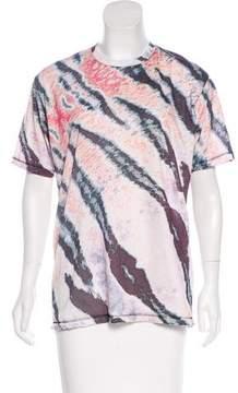 Baja East Digital Print Crew Neck T-Shirt